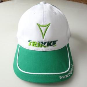 Czapka letnia z siatką - biało zielona