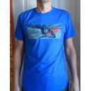 T-shirt Trikke FREEDOM - niebieski