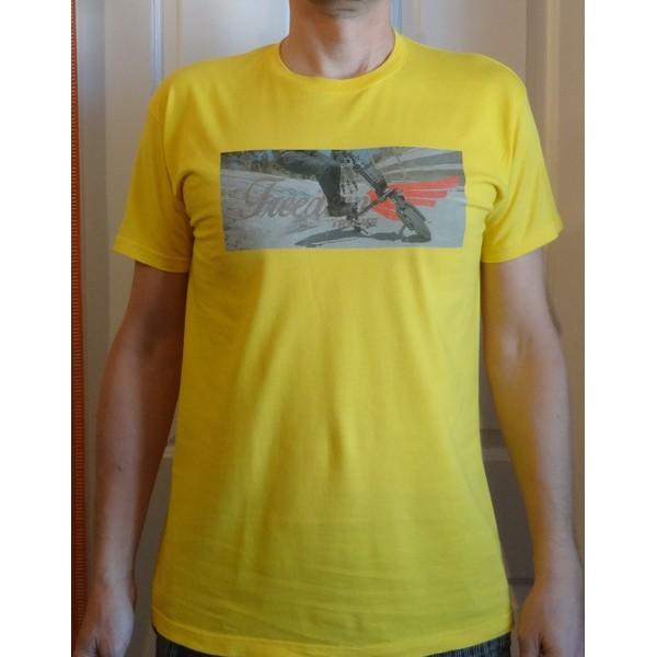 T-shirt Trikke FREEDOM - żółty